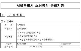 (2019) 서울특별시 소상공인 종합지원