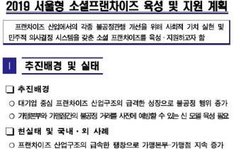 2019 서울형 소셜프랜차이즈 육성 및 지원 계획