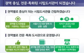 서울도서관 분관 5개 권역별 시립도서관 건립 발표 기자설명회