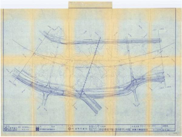 (1984-12-31)한강 고수부지공원 주요 배치시설(평면도)