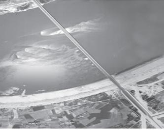 1972년 잠실대교 일대 항공사진