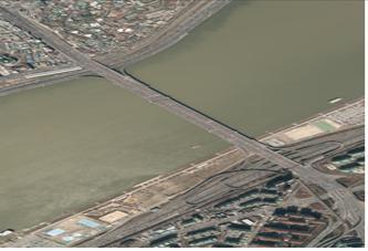 2012년 한남대교 일대 항공사진