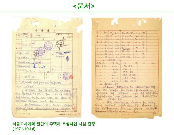 서울도시계획 일단의 주택지 조성사업 시설 결정(1071-10-16)